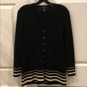 New Ann Taylor Italian merino wool stripe cardigan